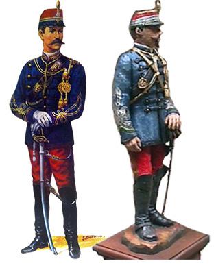 Oficial Granaderos 1883 (Libro Historia del Ejercito de Chile, Nuestros Uniformes)