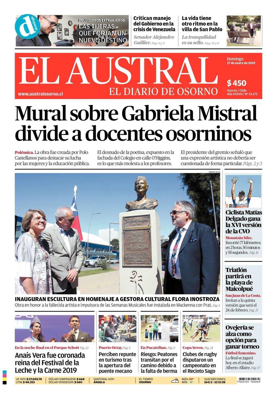 Inauguración busto homenaje a Flora Inostroza - 26 Enero 2019