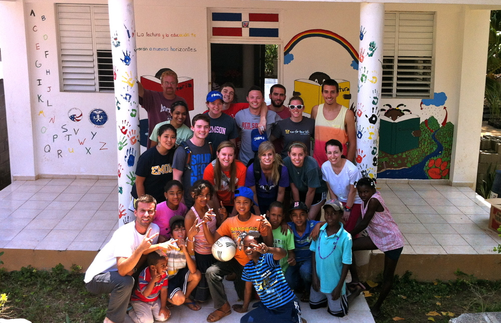 Maghan and Clemson FIMRC at Project Restauración during Spring Break of 2012.