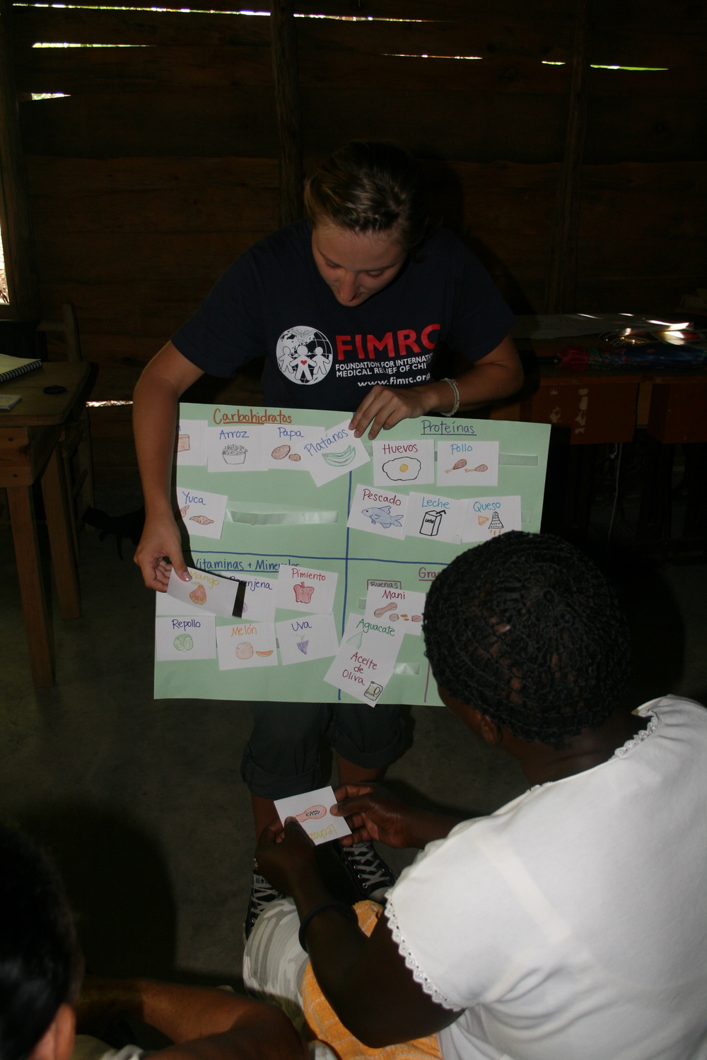 Working on her Ambassador project - a nutrition program in the Dominican Republic!