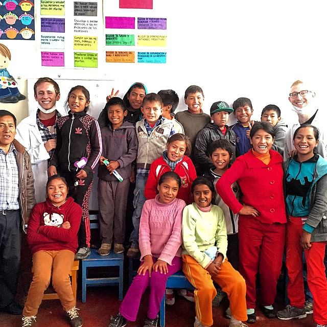 After fluoride treatments in Huancayo