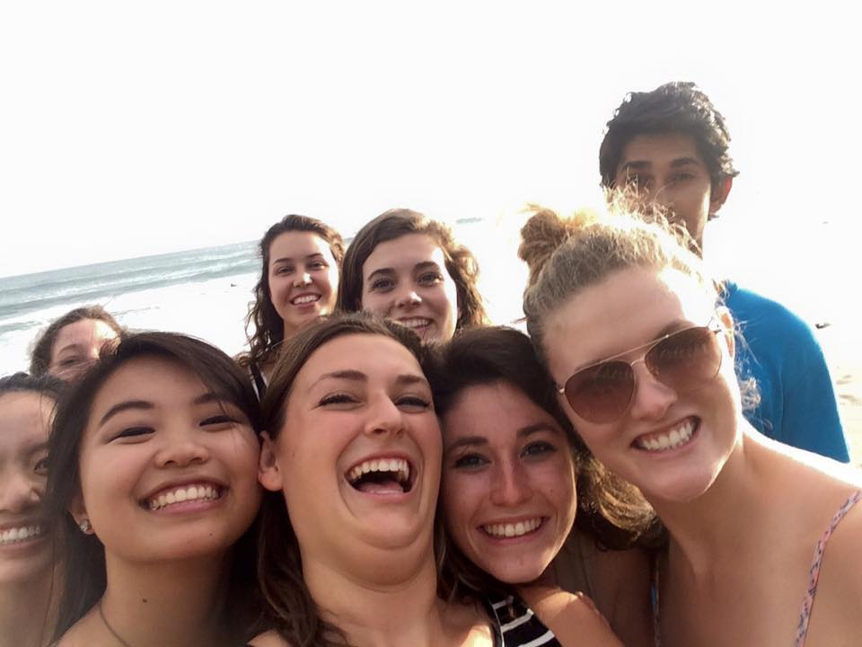 The group enjoying the beach! Only a 10 minute bike ride from the clinic!