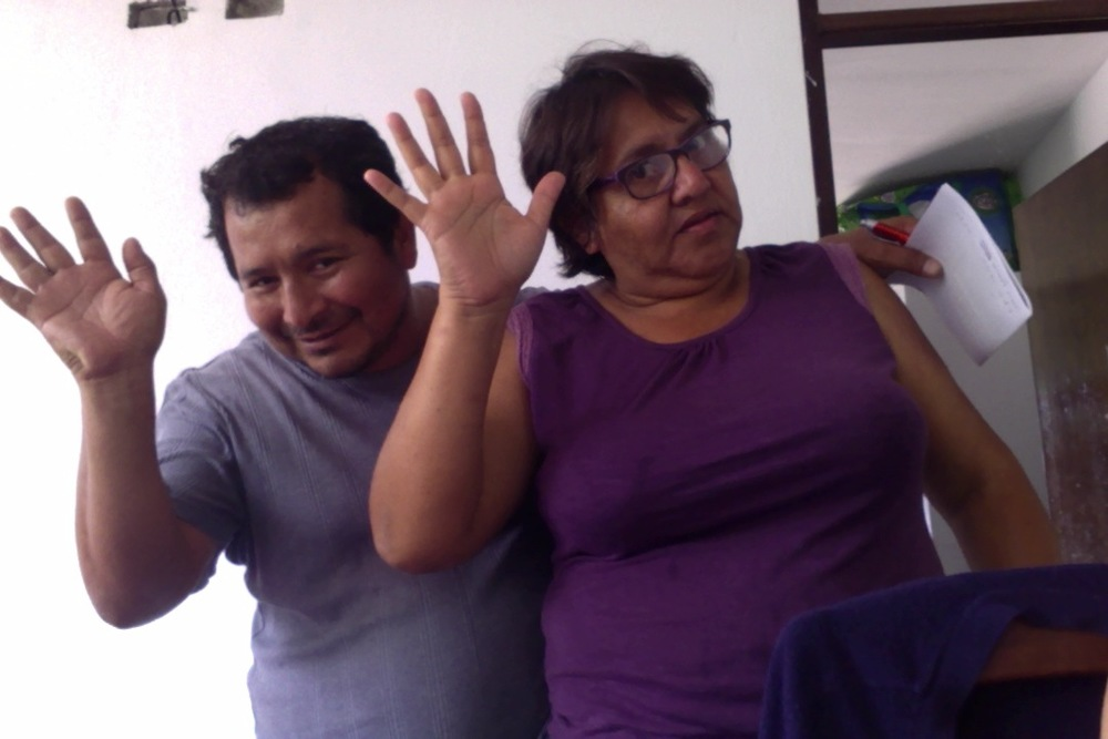 Meet Rosa and Luis - our primary homestay family in La Merced.
