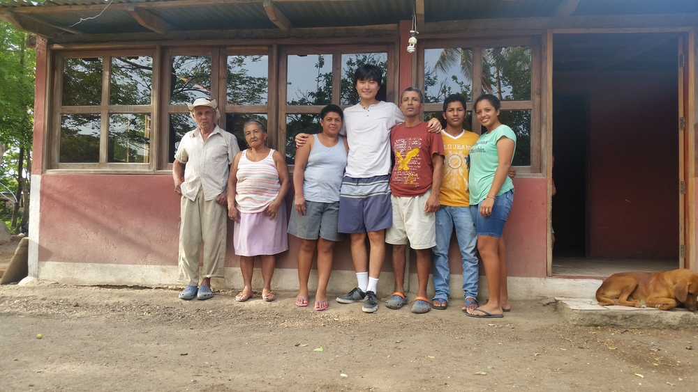 Daniel with his host family, a highlight of his SIHF experience.
