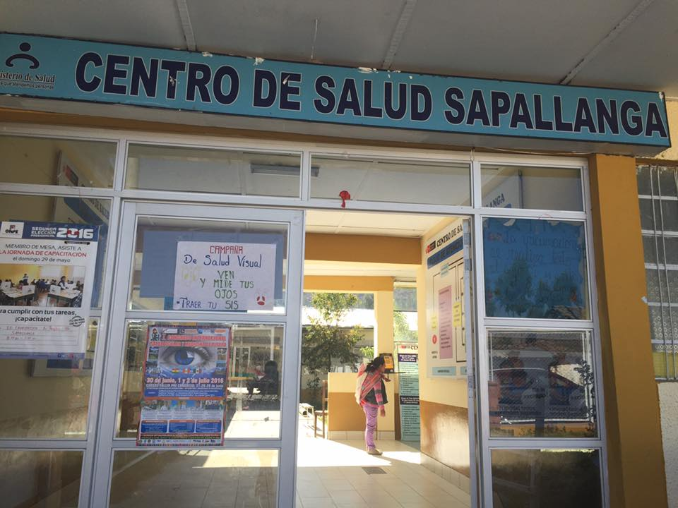 SIHF Huancayo  Fellows frequently assist with intake at the Sapallanga Health Center.