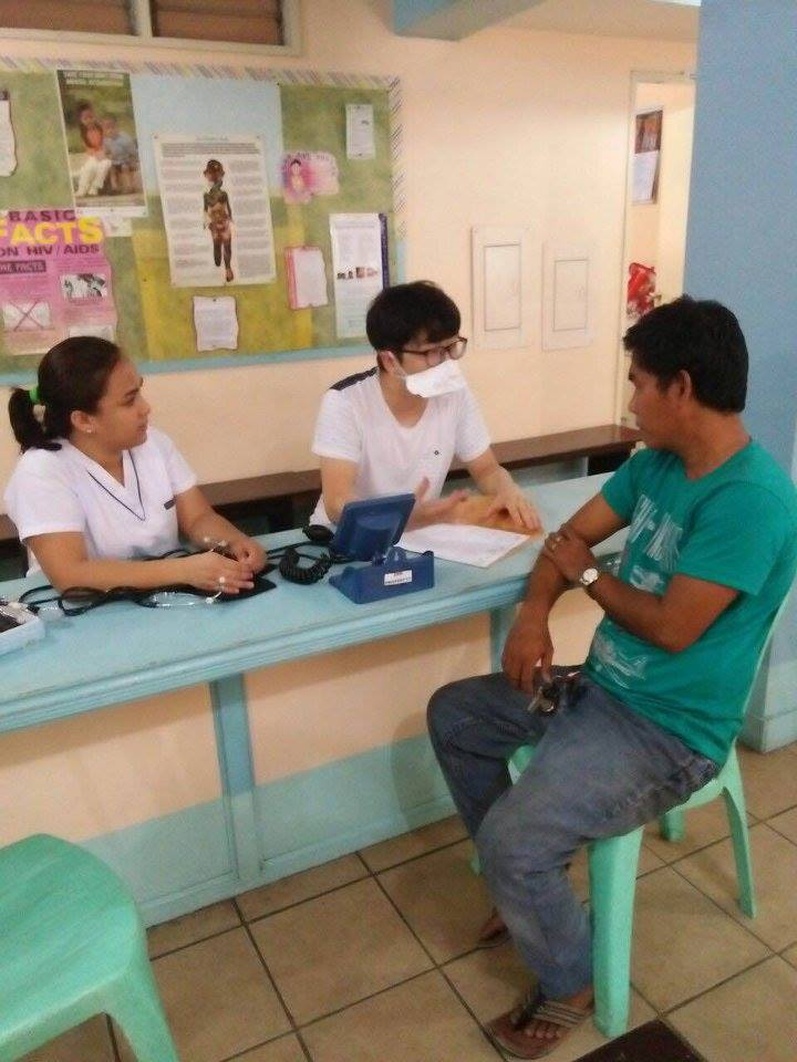 SIHF Philippines  Patient intake at Canossa Health Center in Manila.