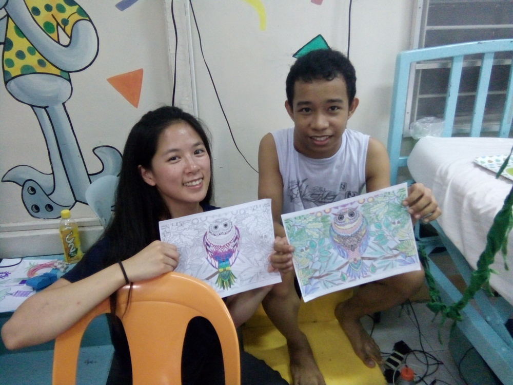 SIHF Philippines  Fellows are working hard to create art activities for children at UP.
