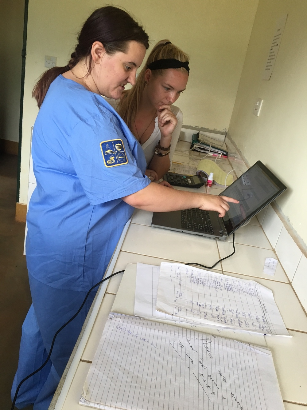 SIHF Uganda  Fellows work to improve data collection both at the clinic and during community outreach efforts.