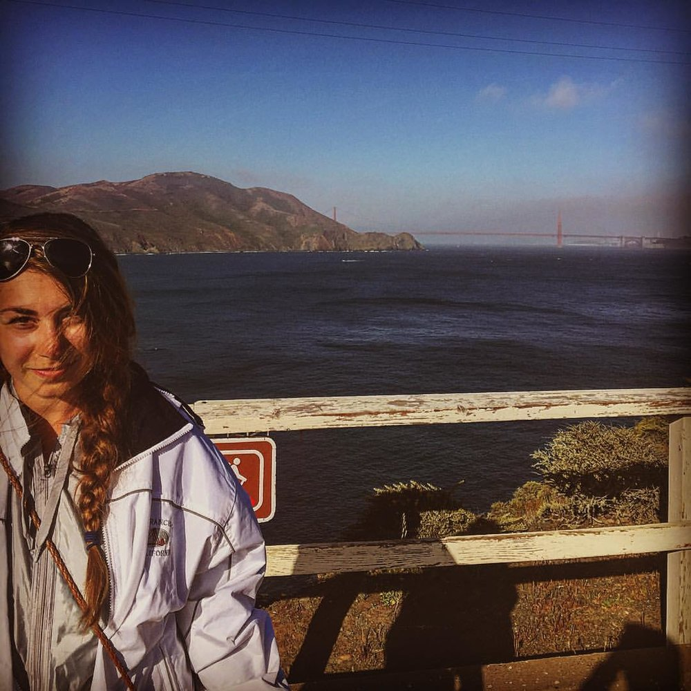Wearing three coats during the summer in San Fransisco #coldsummerwarmheart
