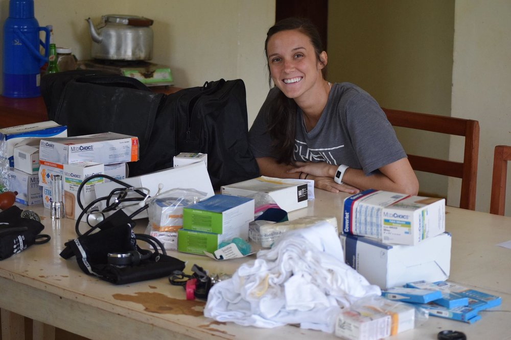 FIMRC Volunteers Chandler and Haylee  included their circles at home before traveling to serve in Uganda. Our clinic staff were very grateful to put clinical supplies to use!