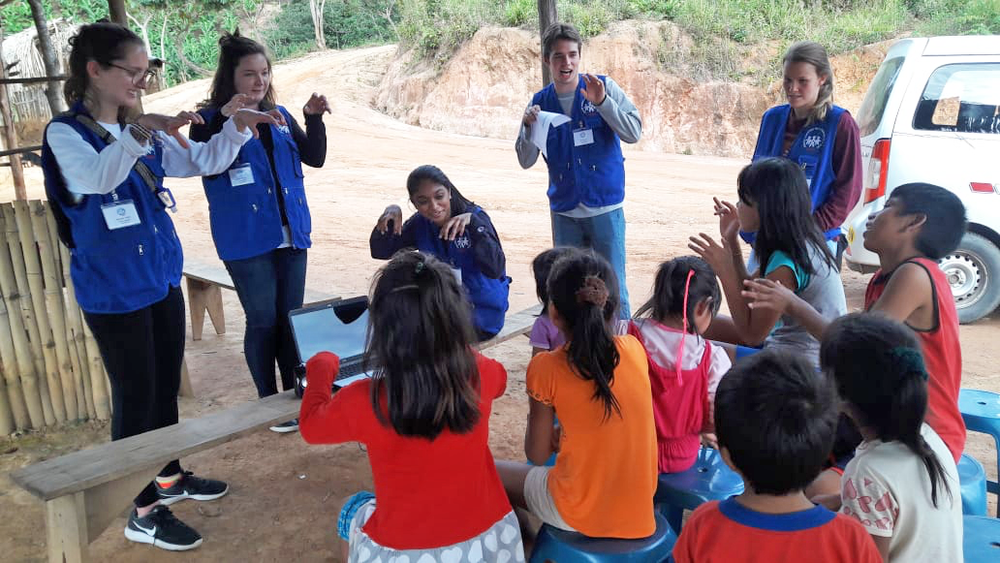Providing health education in remote, mountaintop communities surrounding La Merced, Peru
