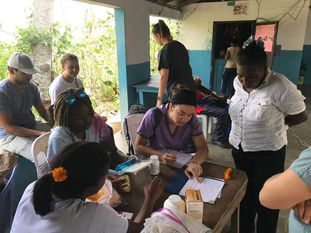 Volunteers assisted Dr. Lesly at Diabetes and Hypertension club in 3 communities surrounding  Project Restauración, Dominican Republic .