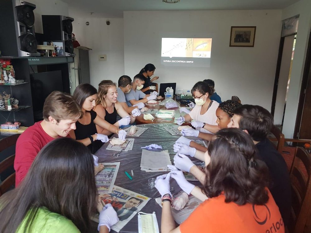 SIHFers got to practice their acquired suturing skills in La Merced, Peru.