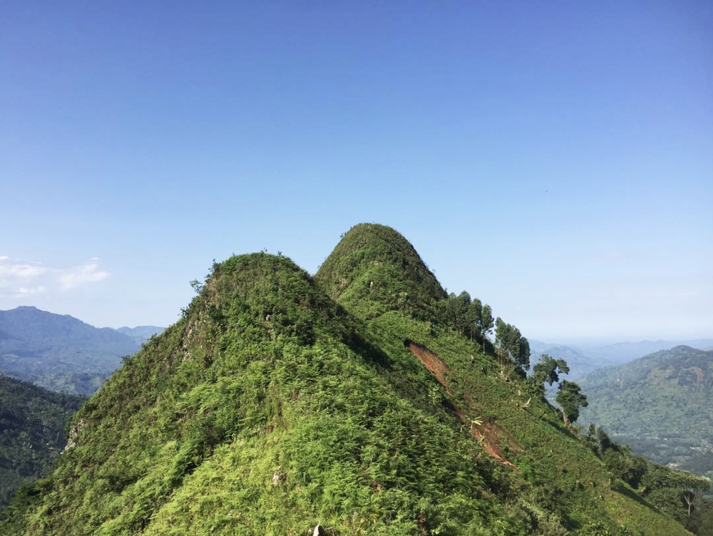 Scenic view of Mt Nuusu near Project Bududa, Uganda.