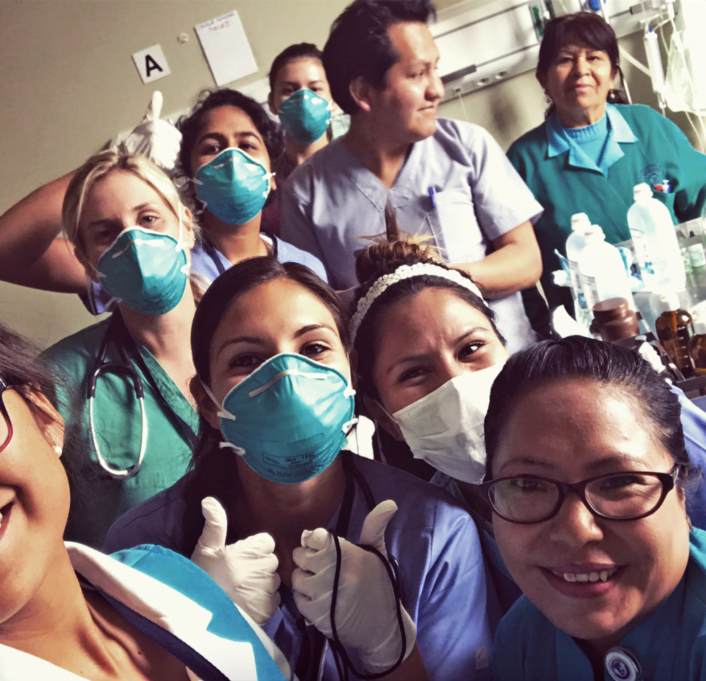 2018 SIHFers scrubbing in at Project Huancayo
