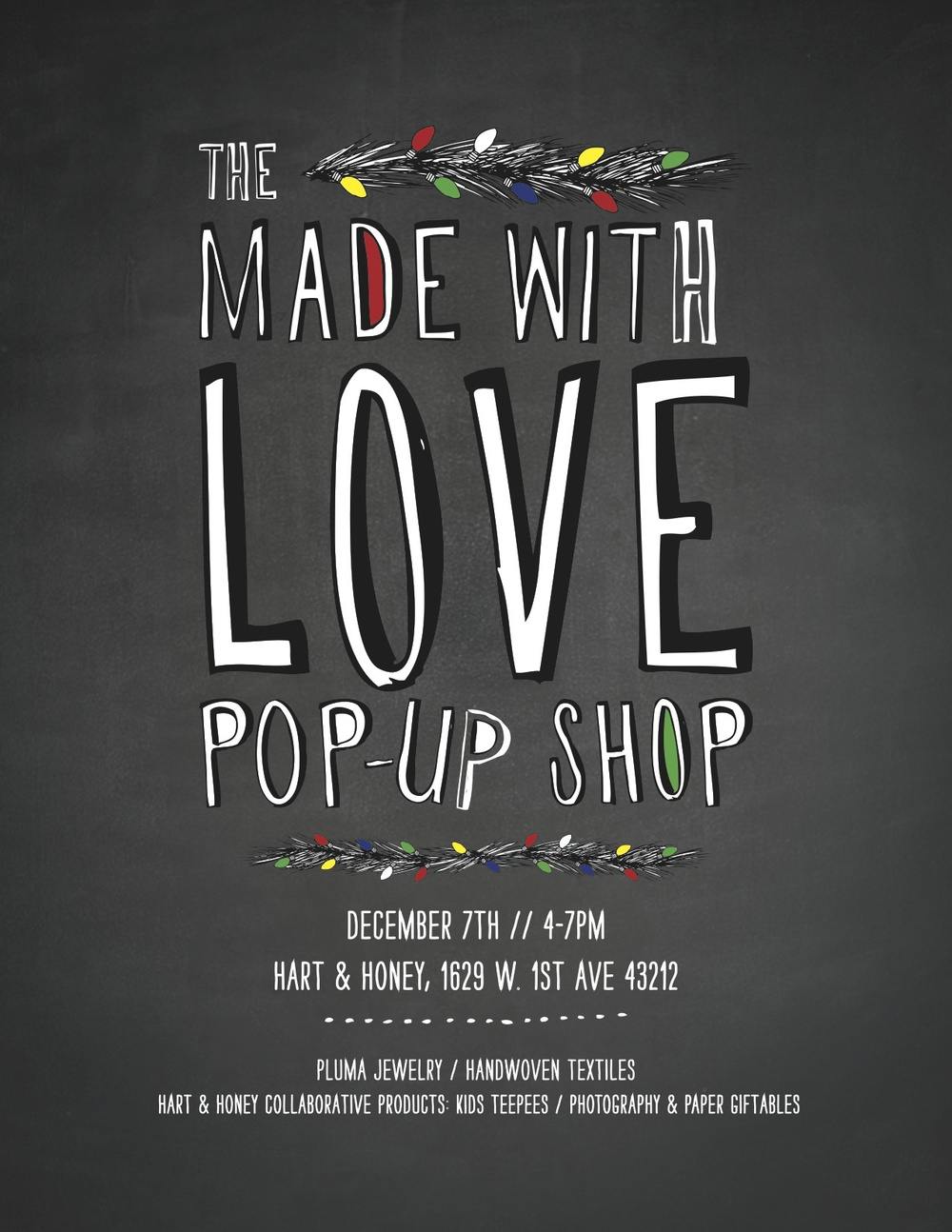 Hart and Honey Made with Love pop up shop // Christmas pop up shop