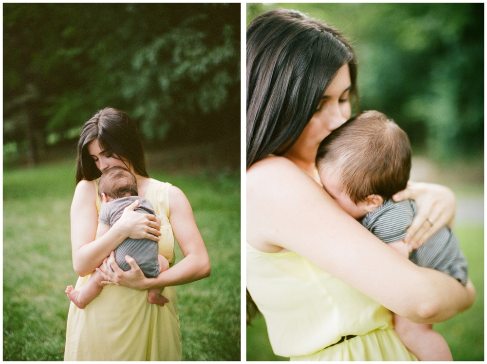 Christa Kimble with her little peanut! photo by lily glass