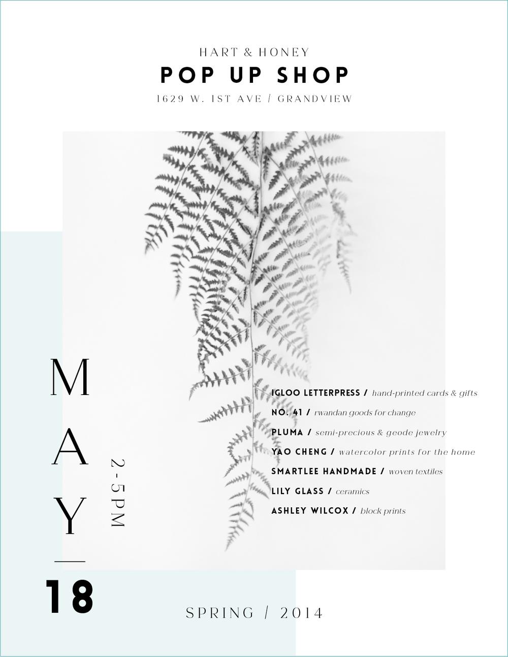 Hart + Honey Spring Pop-Up Shop