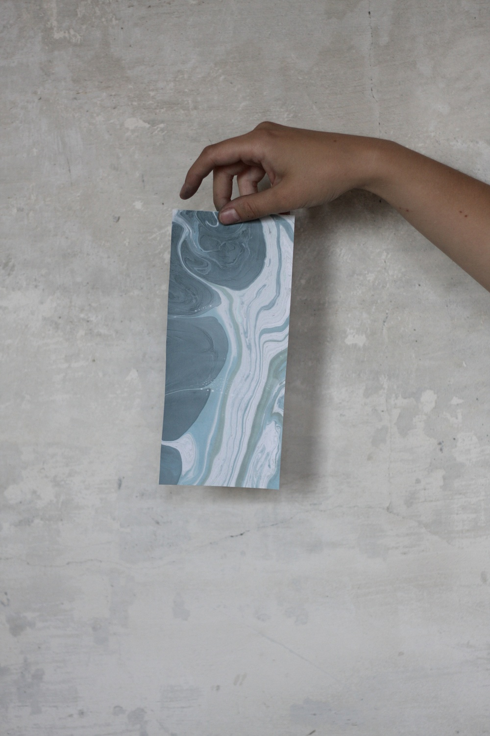 "Sneak Peek at the ""Make"" section of the Sea issue of S T U D Y: Marbling paper, image by  Keely Beasley"