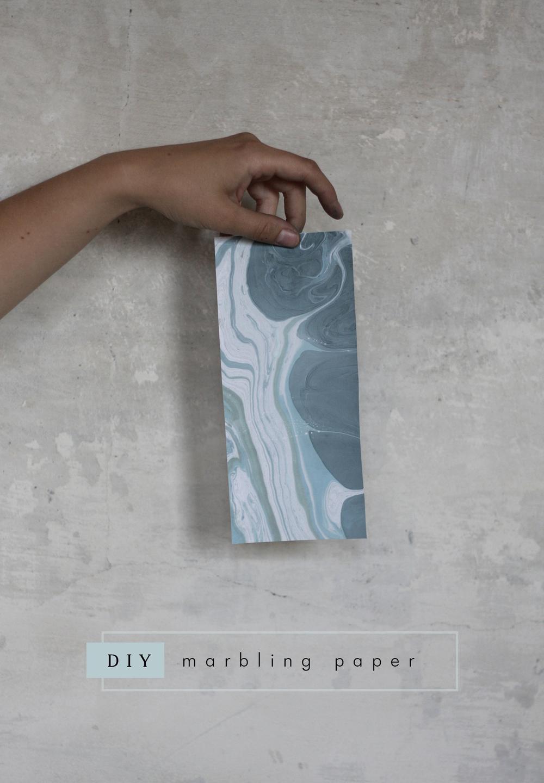 diy marbling paper