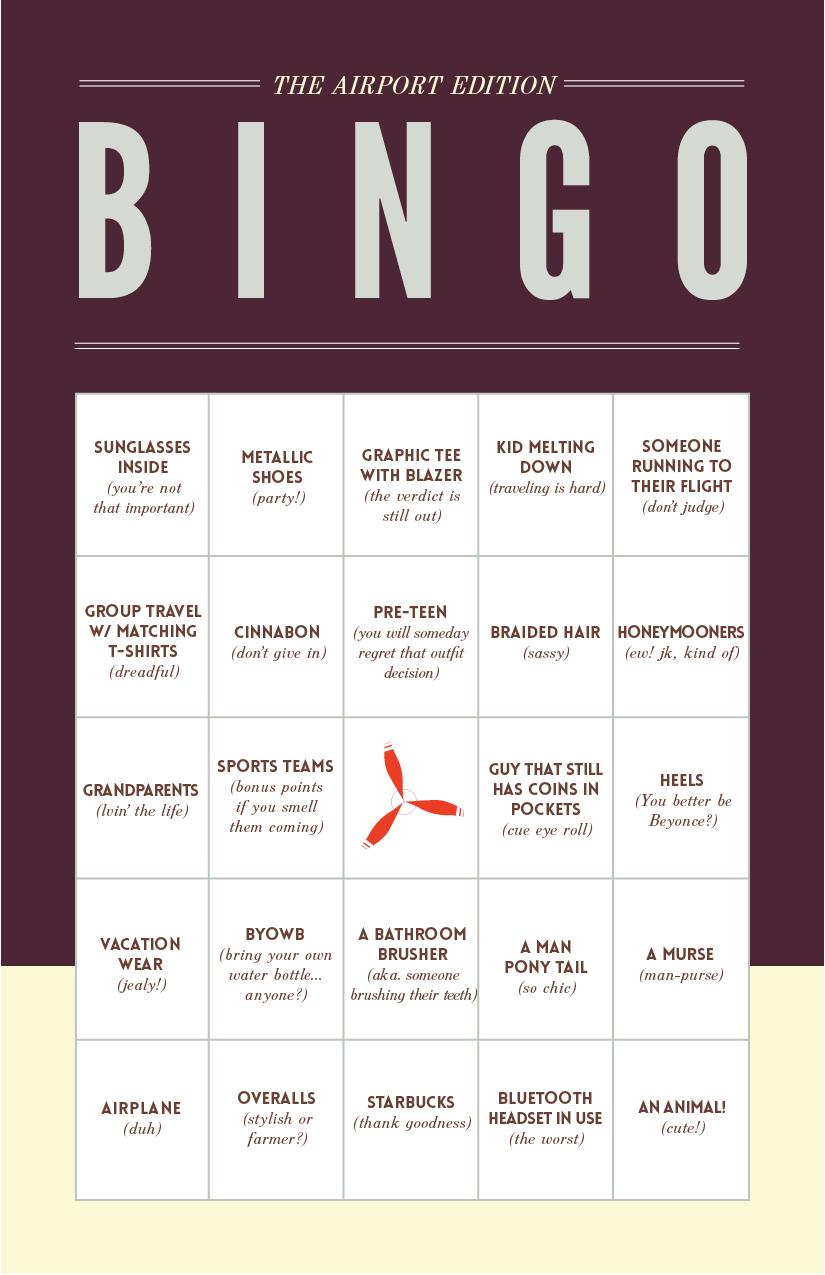 airport bingo