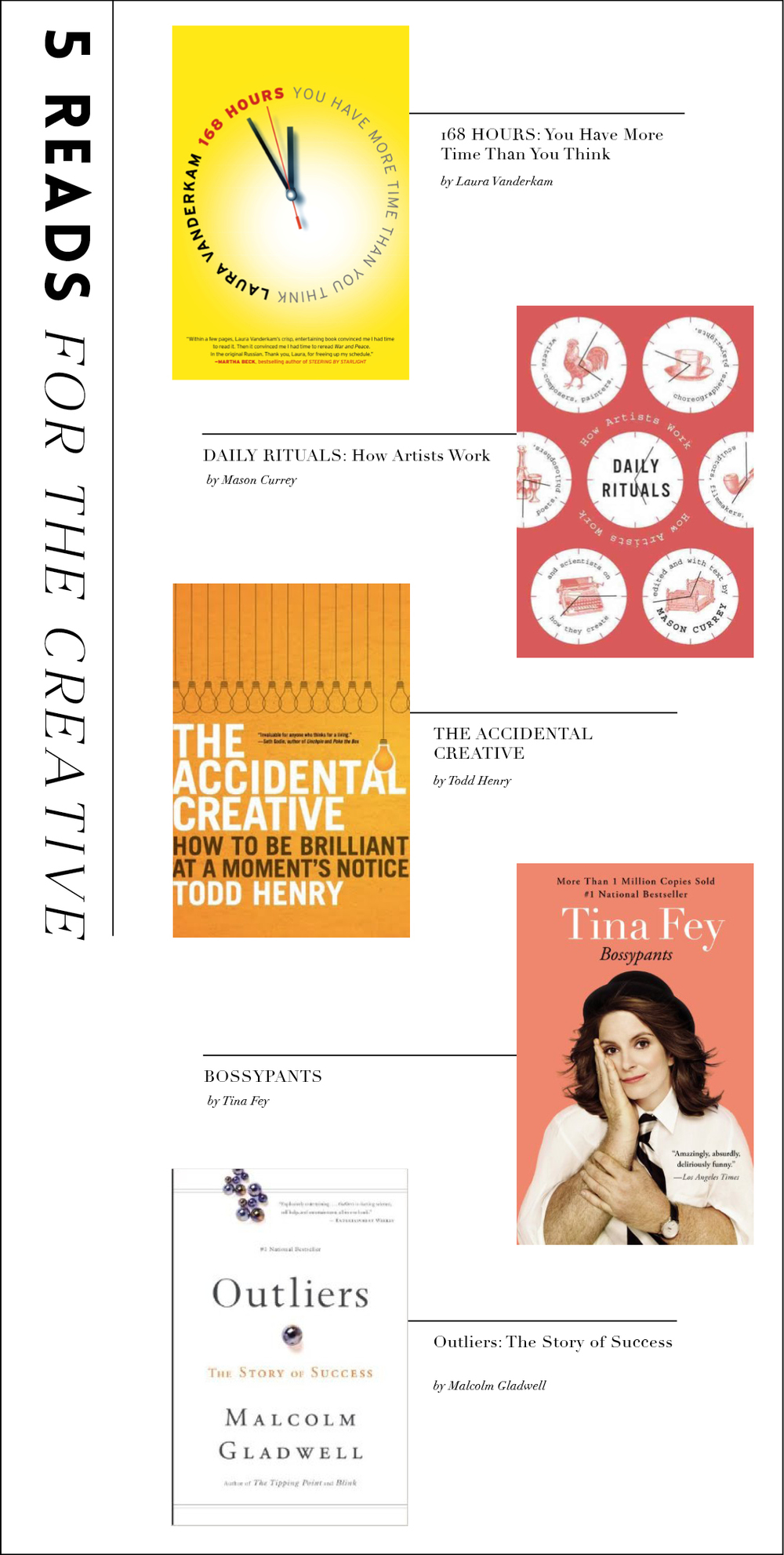 5 books every creative should read by hart & honey