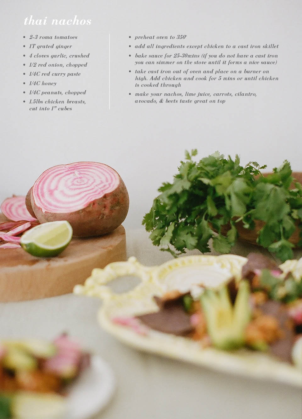 Thai Nachos / Recipe, styling and photography by Hart & Honey