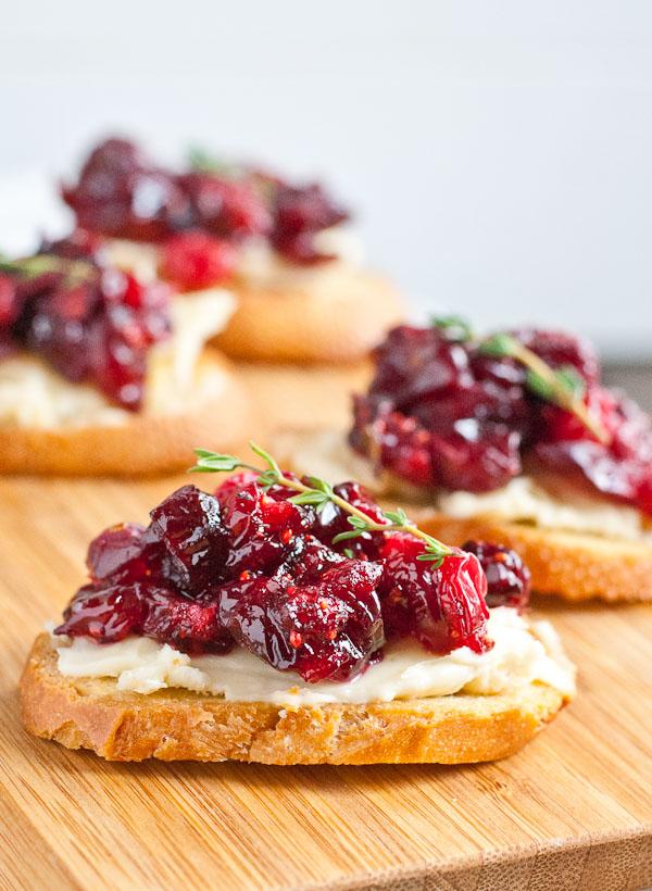 Cranberry + Brie Crostini