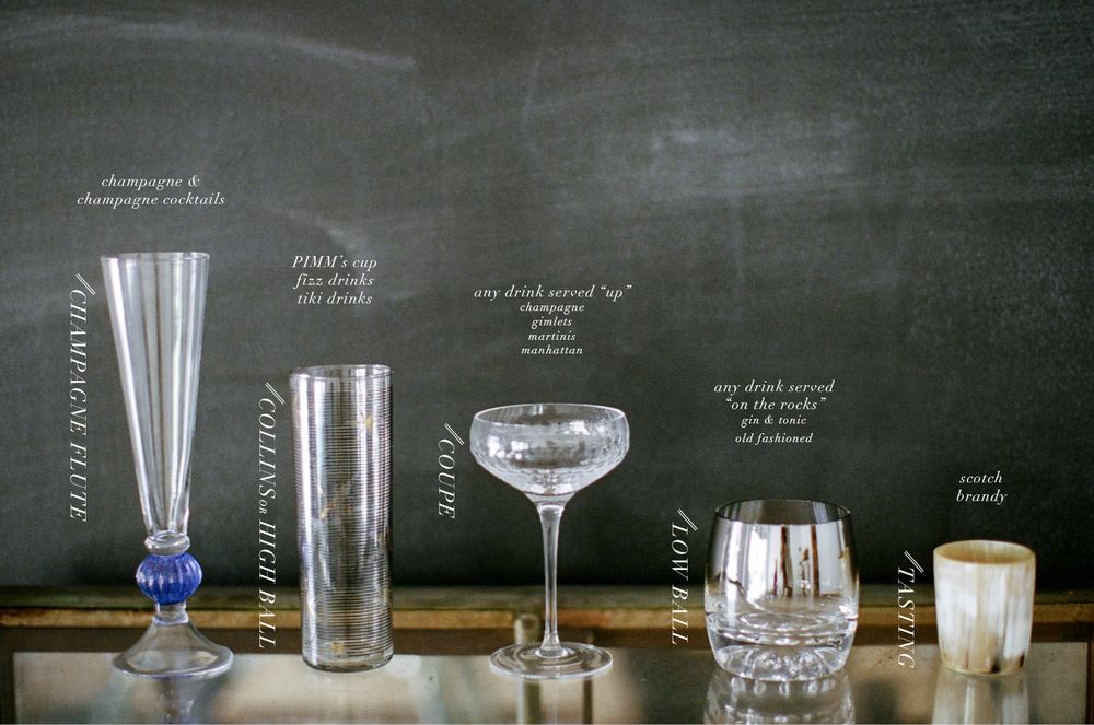 building a home bar | bar glasses