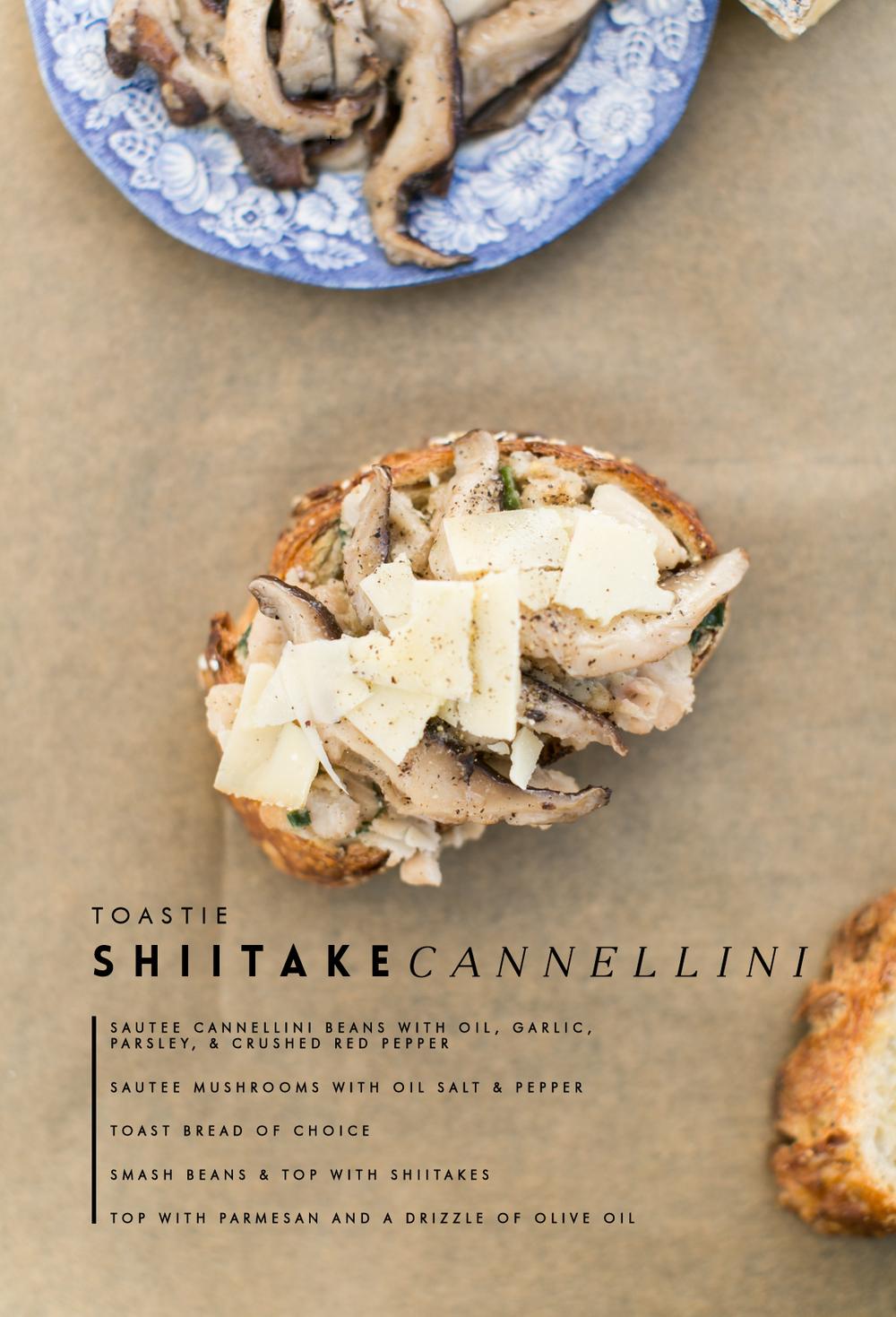Shiitake Mushroom open faced sandwich