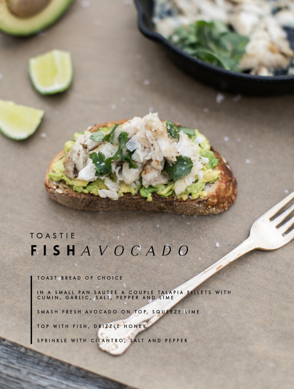 Fish Open faced sandwich, Fish toastie
