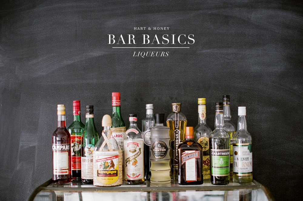 home bar basics, liqueurs