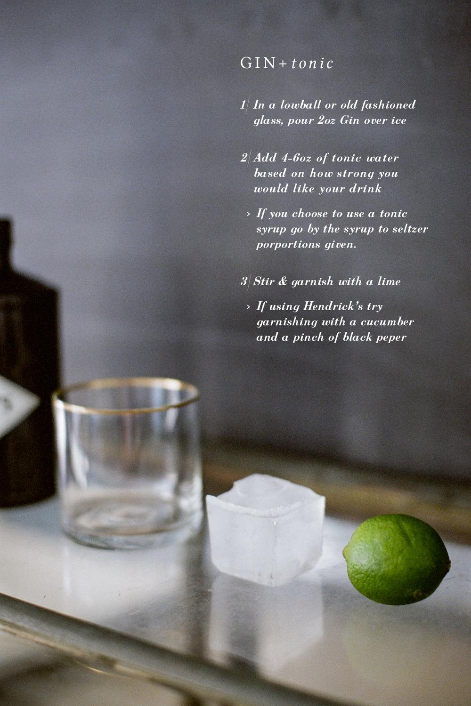 bar basics, gin & tonic