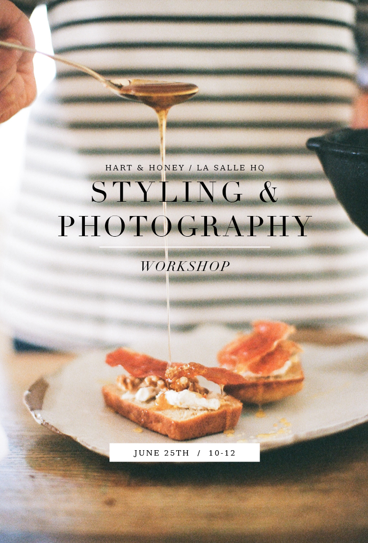 Styling & Photography Workshop for blogs and social media Orange County