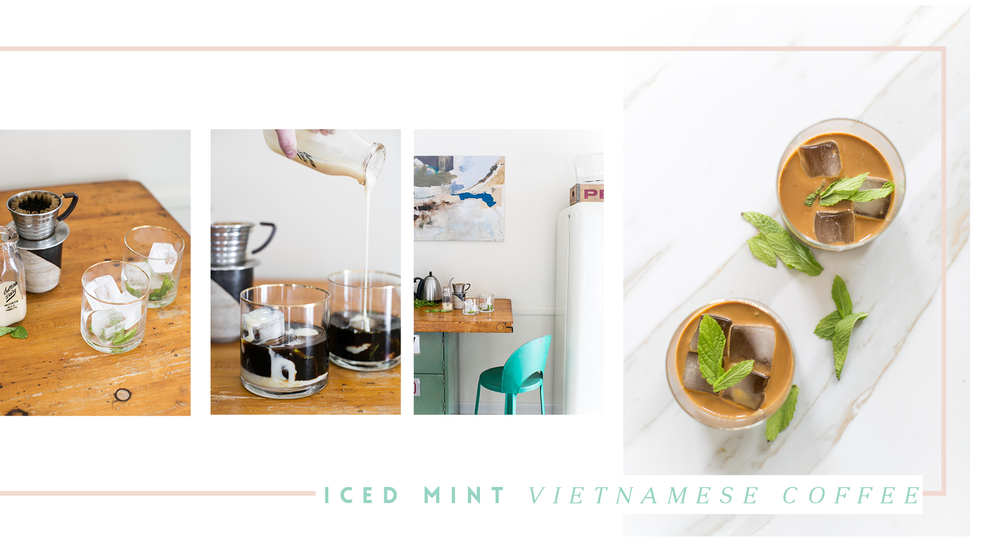 Iced Mint Vietnamese Coffee