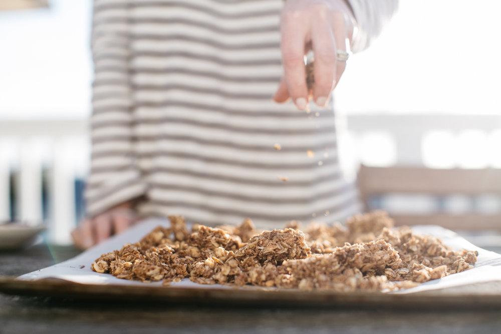 gluten free coconut cashew granola