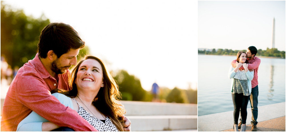 An International Love Affair | A Jefferson Memorial Washington DC Engagement Session | Living Radiant Photography