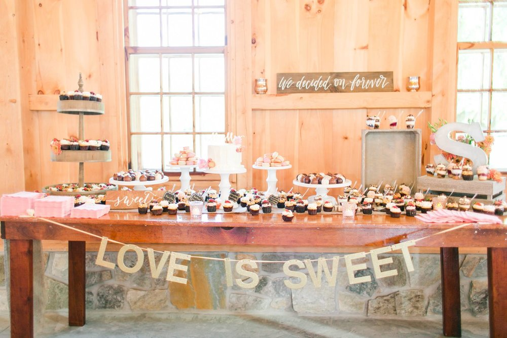 pond view wedding dessert display  megan kelsey photography_1.jpg