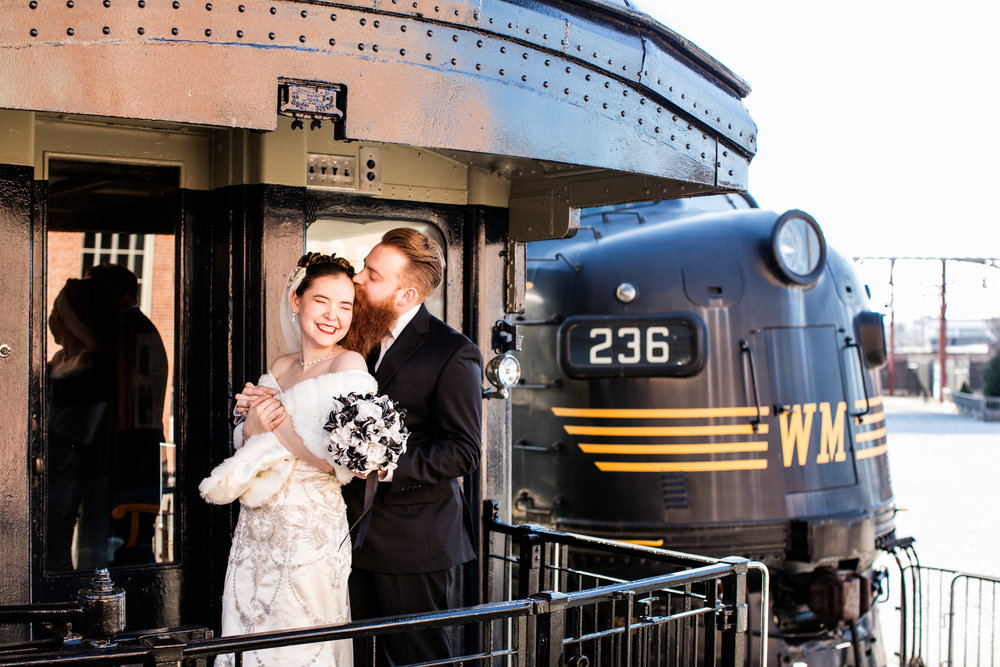 Brown Wedding Baltimore B&O Railroad Museum Wedding Living Radiant Photography photos-298.jpg