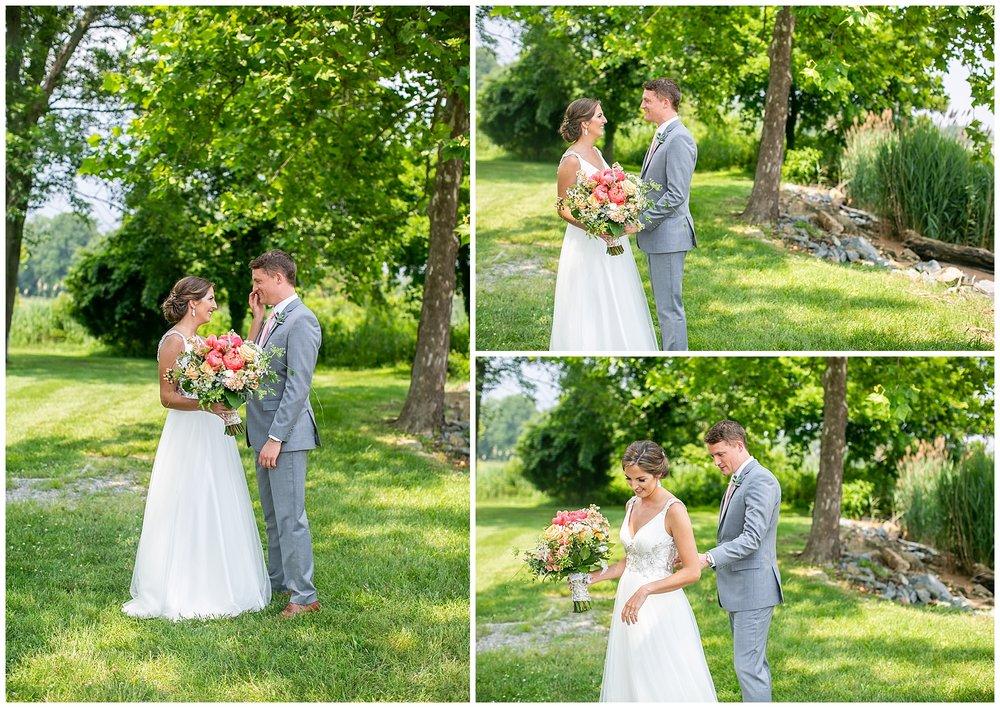Bohemia River Overlook Wedding   Baltimore Best Wedding Photographers   Baltimore Weddings   Pink Bridesmaids Dresses   Peony Bouquet