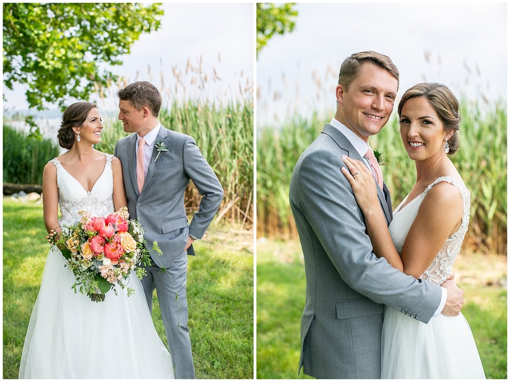 Bohemia River Overlook Wedding | Baltimore Best Wedding Photographers | Baltimore Weddings | Pink Bridesmaids Dresses | Peony Bouquet