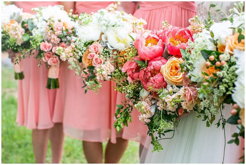 Bohemia River Overlook Wedding   Baltimore Best Wedding Photographers   Baltimore Weddings   Pink Bridesmaids Dresses   Peony Bouquet   Living Radiant Photography
