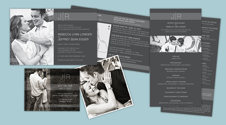 J. CREW STYLE  :: Save-the-Dates + Invitations + Programs