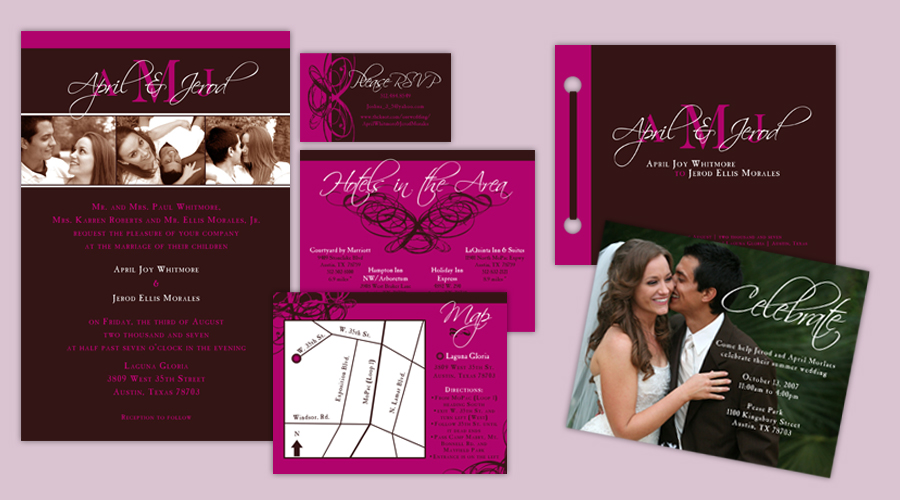 HOT PINK LOVE  :: Invitations + Programs + Reception Party Invitations