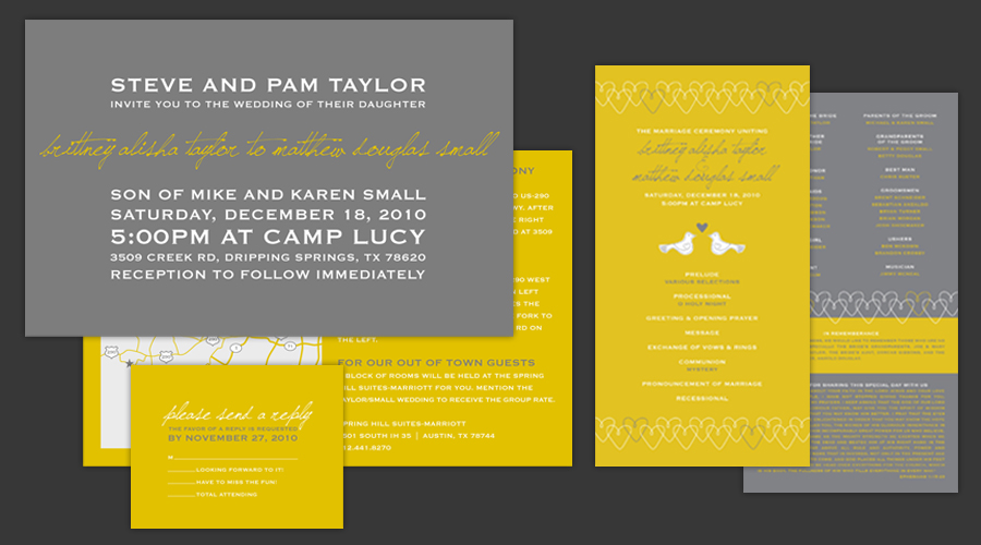 MUSTARD KISS  :: Invitations + Programs