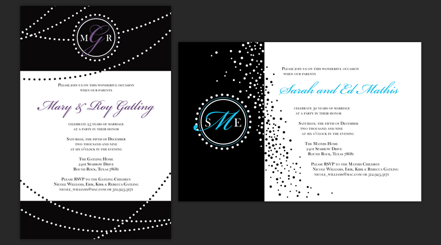 HAPPY ANNIVERSARY  :: Party Invitations