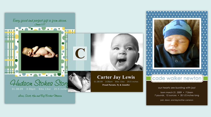BABY BLUE BOYS  :: Baby Announcements
