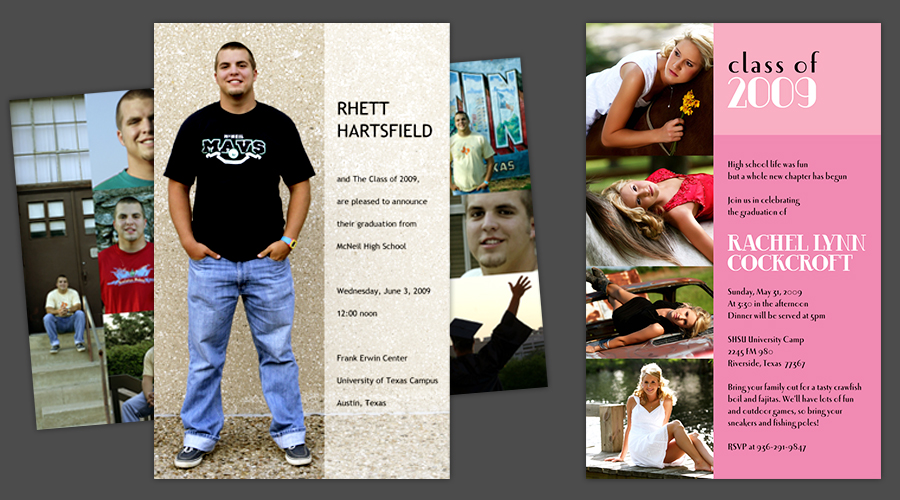 COLLEGE COLLAGE  :: Graduation Announcements