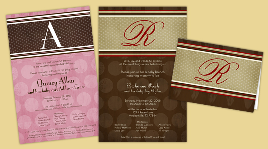 RUSTY POLKA DOTS  :: Invitations + Thank You Notes