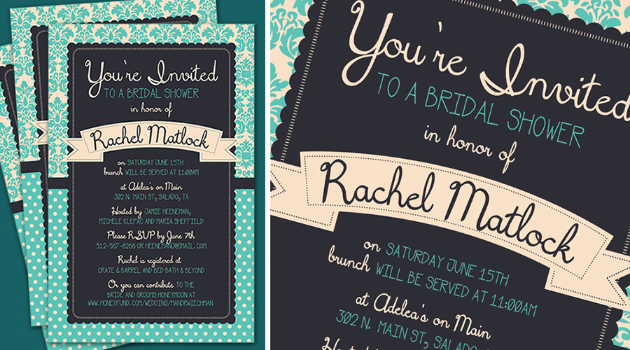 GETTING HITCHED  :: Bridal Shower Invitations